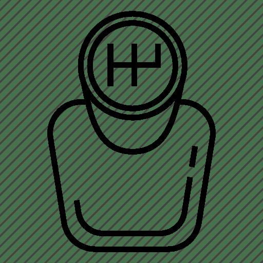Gear shift, gear stick, manual transmission, transmission icon