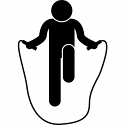 Exercises fitness jump jumping rope workout icon Download on Iconfinder