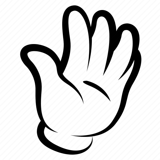 Cartoon, comics, drawing, gesture, hand, sign, stop icon