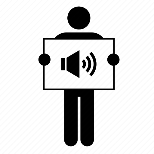 Speaker Icon Png : speaker, Audio,, Banner,, Board,, Sign,, Sound,, Speaker, Download, Iconfinder