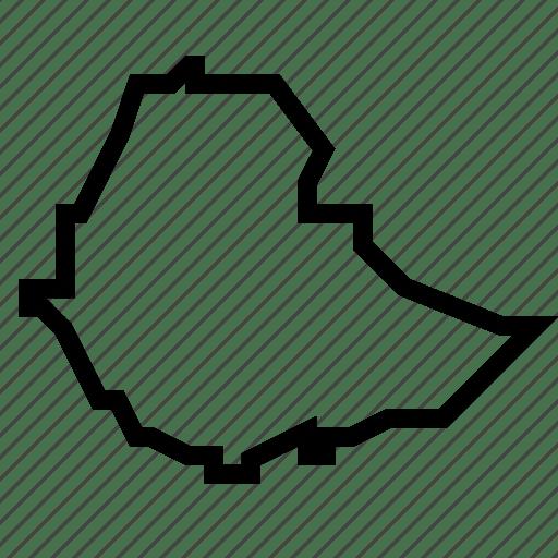 Ethiopia, map icon