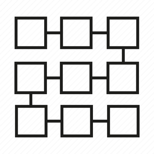 Diagram, logic, process, step icon
