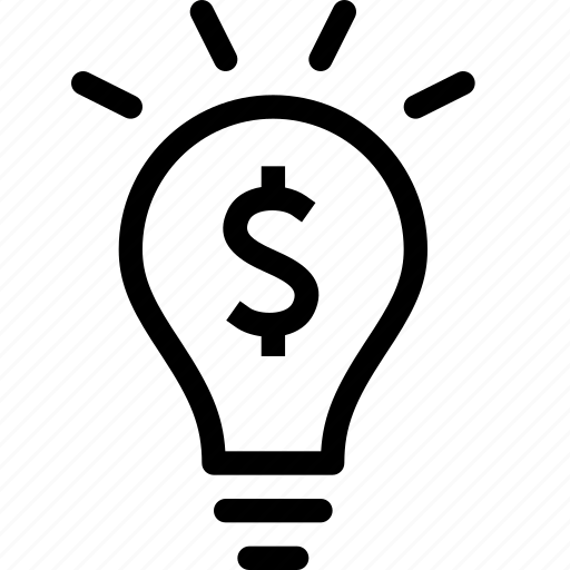 Business, finance, idea, lightbulb, money, solution icon