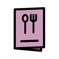 menu icon food restaurant bar recipe icons drinks editor open