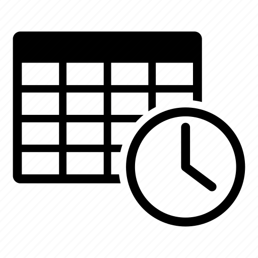 Calendar, clock, education, history, time, timer icon