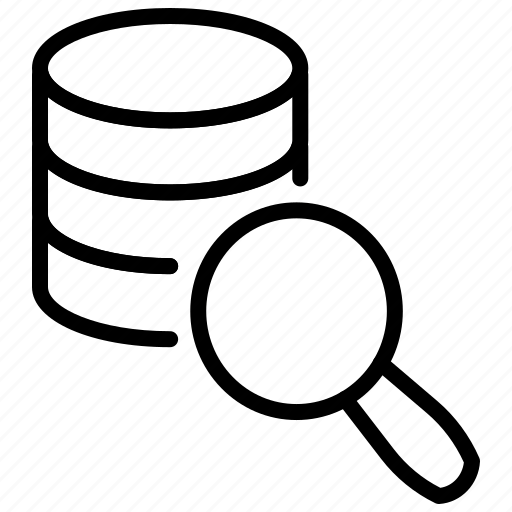 Data, data source, database, elastic search, search data icon