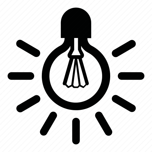 Electrical, electricity, lamp, light, light bulb icon