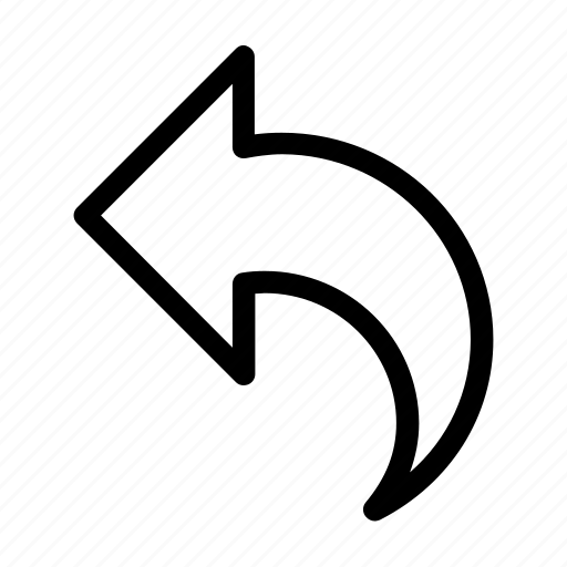 Email, message, reply, return, send, shape icon