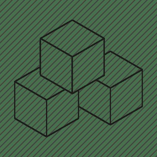 Bricks, building blocks, toys icon