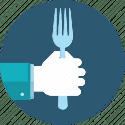 icon food restaurant menu cuisine hand flat icons editor open