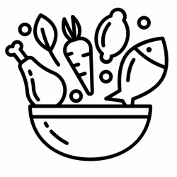 healthy food meal icons drawing icon nutrition health dinner proper organic vector natural eating svg workshop humidity monitoring temperature device