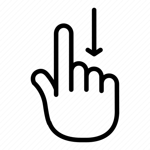 Awwor, down, fingers, gesture, hand, mark, scroll icon