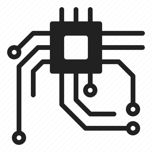 Circuit, data, digital, plc, transfer icon