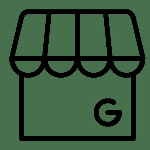 Business, google, marketplace, my, shop, store, suit icon