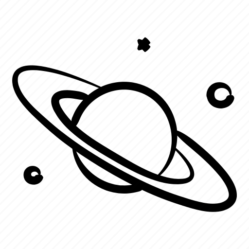 Astronomy, hand drawn, planet, planetary, ring, saturn