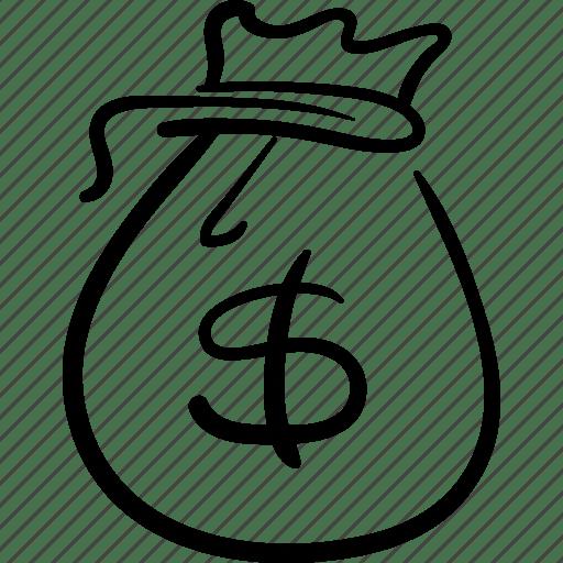Bag, cash, gift, money, prize, reward icon