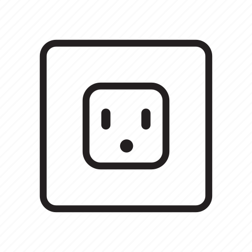 Outlet, plug, power, power socket, receptacle icon