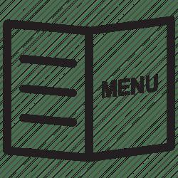 menu icon food card jour cuisine carte icons du hotel menucard party editor open tip