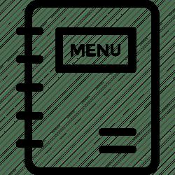 menu icon card cuisine icons restaurant hotel editor open