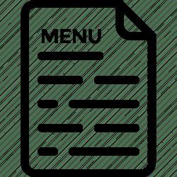 menu icon card cuisine icons hotel restaurant editor open