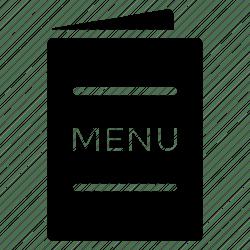 menu restaurant hotel icon navigation icons menucard options data editor open