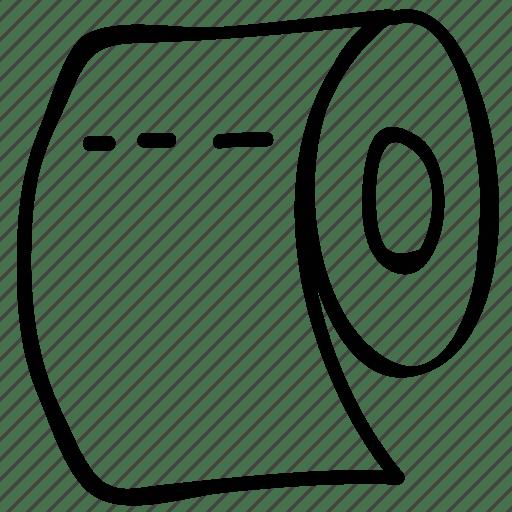 Bath, bathroom accessory, hygienic, paper roll icon