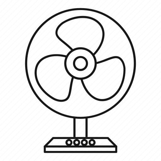 clipart appliance electric fan line outline table 3 pin computer power  switch wiring diagram