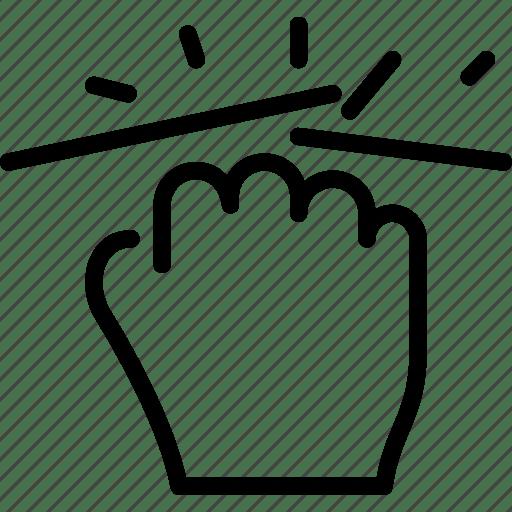 Break, fight, fist, gesture, hand icon