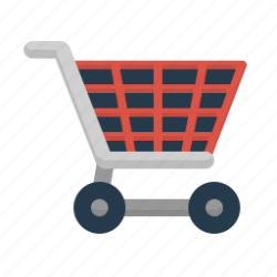 shopping cart icon bag icons flat opti