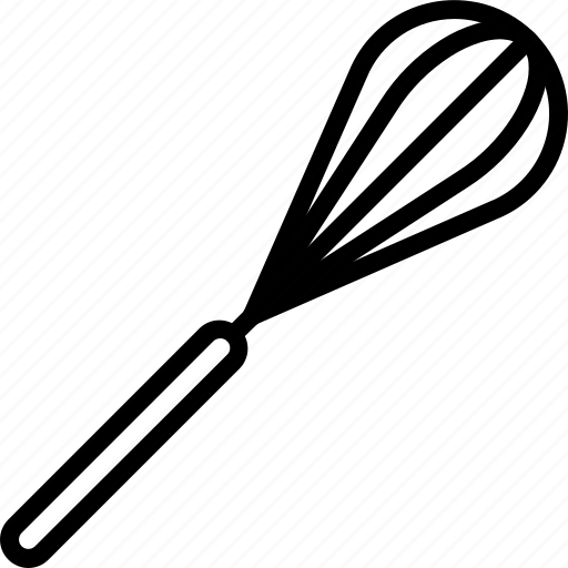 Kitchen, objects, outline, whisk icon