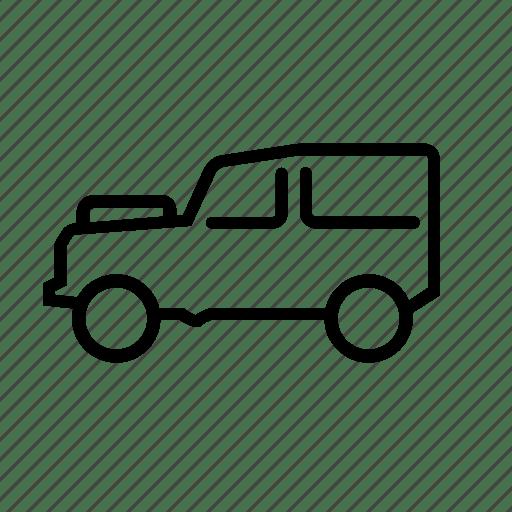 Car, defender, land rover, suv, transportation, vehicle icon