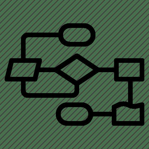 Chart, flow, plan, process, workflow icon