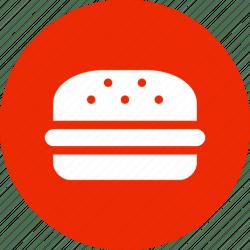 icon food fast burger circle hamburger menu icons 512px 24px 32px