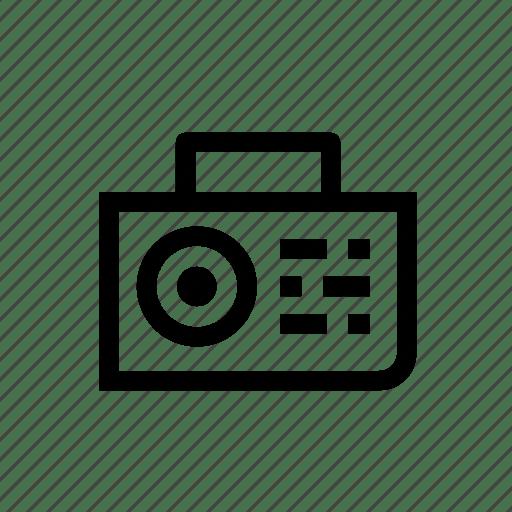 Am, audio, fm, radio, stereo, transistor, tuner icon