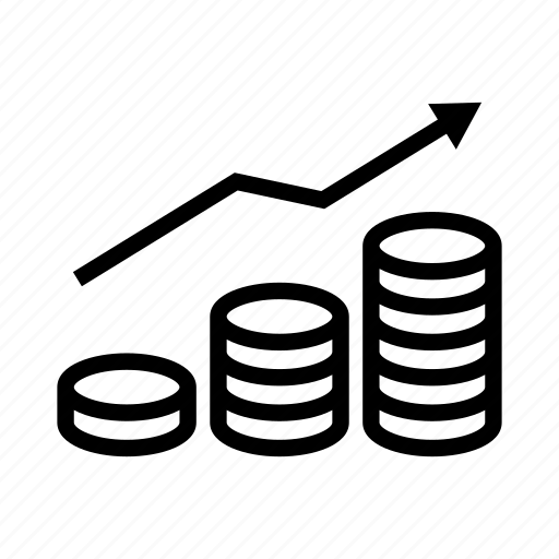 Analytics, business, coins, finance, graph, money