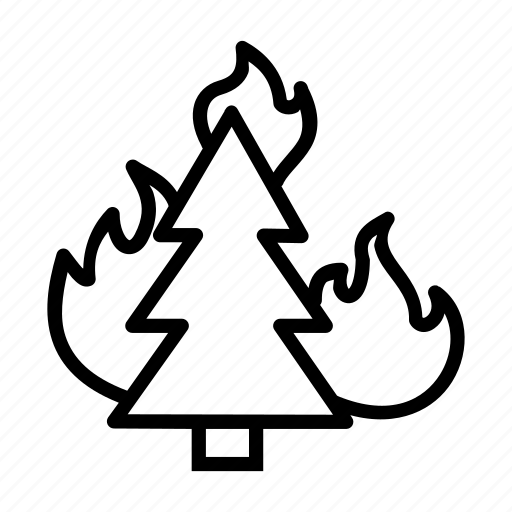 Bonfire, burning, combustion, fire, forest, trees