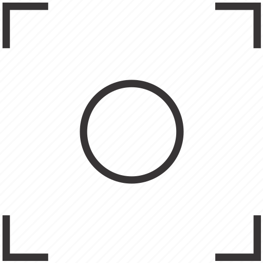 Camera, focus, frame, objective, photo, viewfinder icon