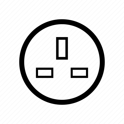 Outlet, plug, power, socket, type g, typeg icon