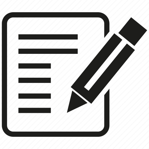 Contract, document, pencil, writing icon