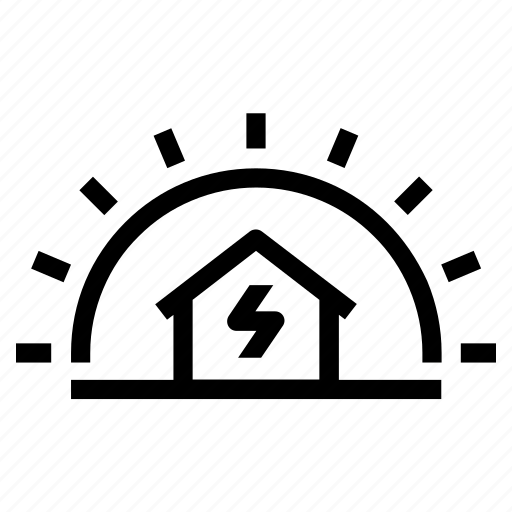 Clean, energy, home, house, powered, solar, sustainable icon