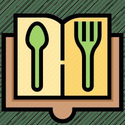dish icon restaurant menu list icons editor open