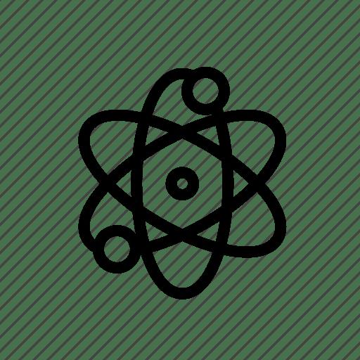Atom, physics, quantum, science icon