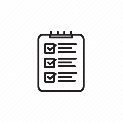 Checklist, dolist, list, worklist icon