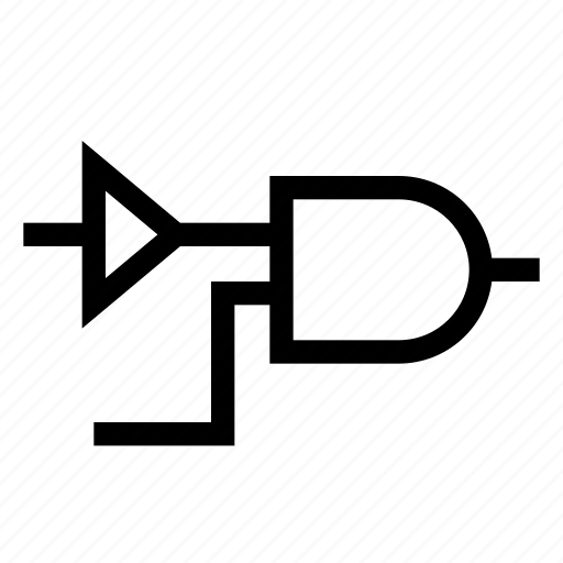 Circuit, diagram, flow, logic icon