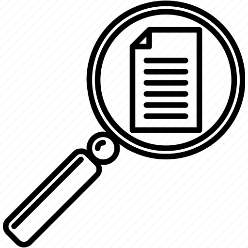 Document finder, document magnifying glass, document