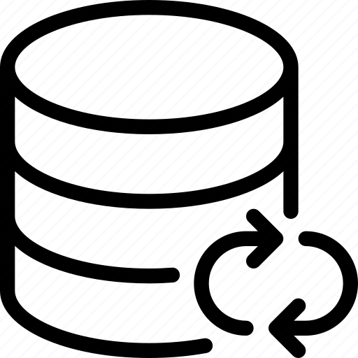 Data, database, server, storage, sync icon
