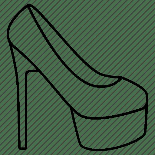 Fashion, high heel, ladies, platform, shoe, stiletto