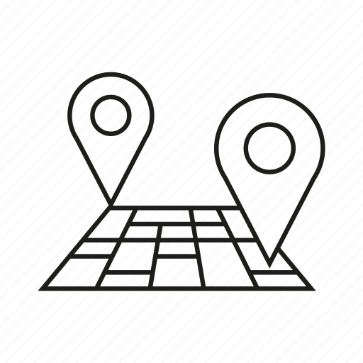 Area land location map pin tracking icon