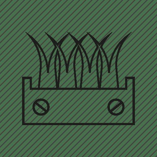 Agriculture, farm, grass, organic icon