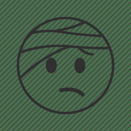 Accident, bandage, face with head bandage, head bandage
